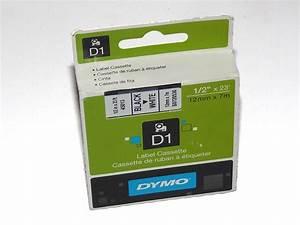 Dymo cassette for labelmanager label maker d1 12mm x for Dymo custom labels