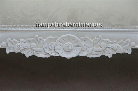 medium louis cudder white french chaise longue sofa