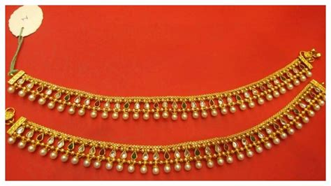 10 Gorgeous Payal Designs In Gold - YouTube