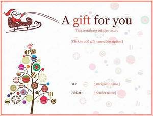 holiday gift certificate templates certificate templates With holiday gift certificate templates