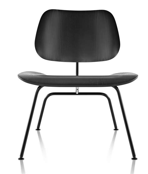 herman miller eames 174 molded plywood lounge chair metal
