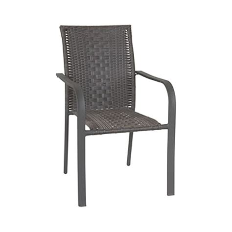 wilson fisher 174 high back resin wicker arm stacking chair