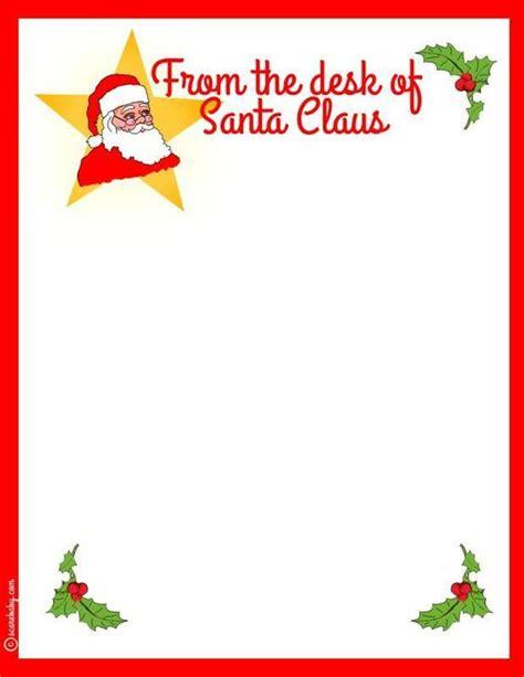 printable santa stationery   desk  santa