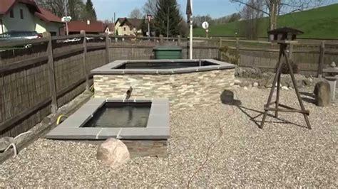 hochteich selber bauen hochteich baudoku fischbecken fast fertig