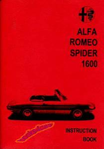 Alfa Romeo Duetto Spider Owners Manual Handbook Guide Book 1966