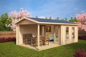 Gartenhaus Mit Schuppen : gartenhaus mit terrasse nora e 9m 44mm 3x6 ~ Michelbontemps.com Haus und Dekorationen