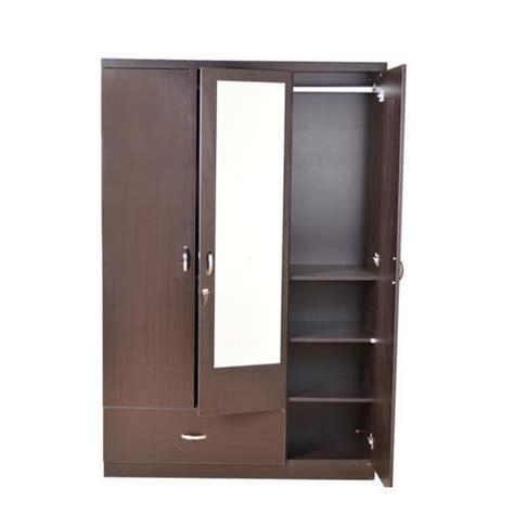 Wooden Wardrobe With Mirror by Brown Mirror Steel Wardrobe Rs 15000 Nilkanth