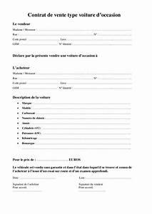 Papier De Vente Pour Voiture : contrat de vente type voiture ~ Gottalentnigeria.com Avis de Voitures