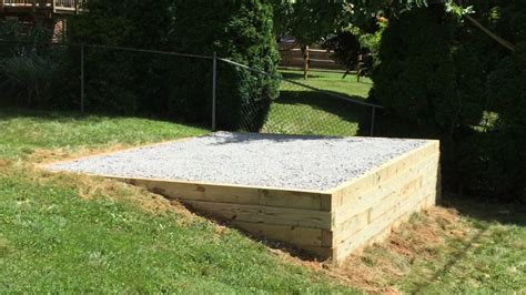 gravel shed pad  installed   professional