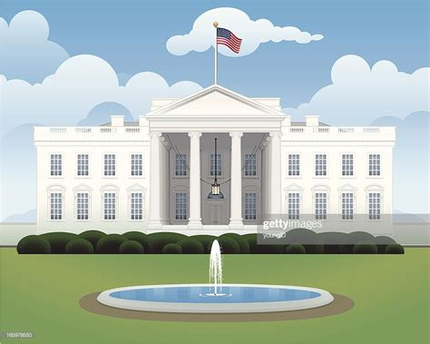 white house vector art getty images