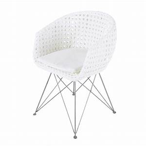 Fauteuil De Jardin Maison Du Monde : fauteuil de jardin en m tal et r sine blanc veli maisons ~ Premium-room.com Idées de Décoration