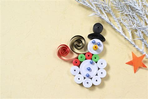 quilled snowman fun family crafts