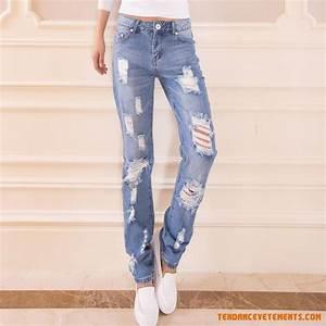 Jean Bleu Troué Femme : jeans femme soldes jean denim jean slim jean d chir jean skinny pas cher ~ Melissatoandfro.com Idées de Décoration