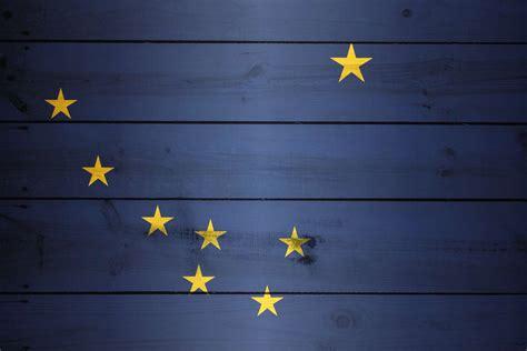 flag  alaska wood texture