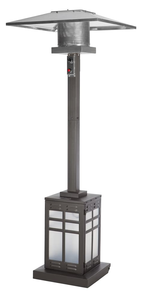 sense square mocha illuminated patio heater outdoor