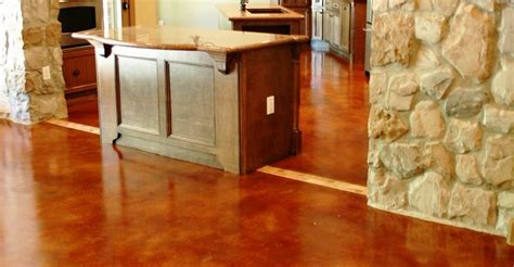 stained concrete floor kitchen kitchen floor designs and benefits of using concrete 5694