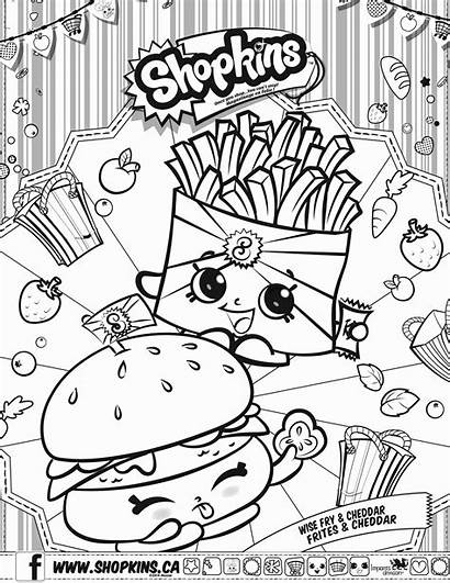 Shopkins Coloring Pages Characters Wobbles Printable Fun