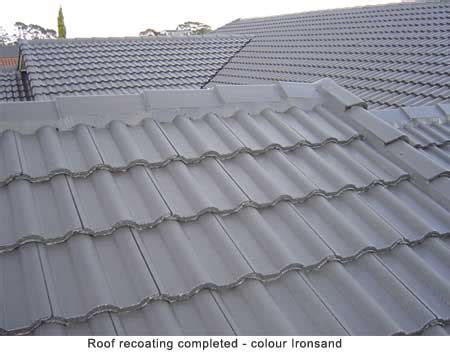 roof recoating for concrete tile roofs from promain
