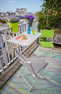 Table Chaise Balcon : meuble pliable pour gagner de la place l 39 ext rieur c t maison ~ Teatrodelosmanantiales.com Idées de Décoration