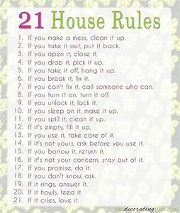 25 best ideas about house rules on pinterest family With house rules chart template