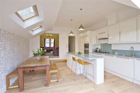 light airy open plan kitchendining room home decor
