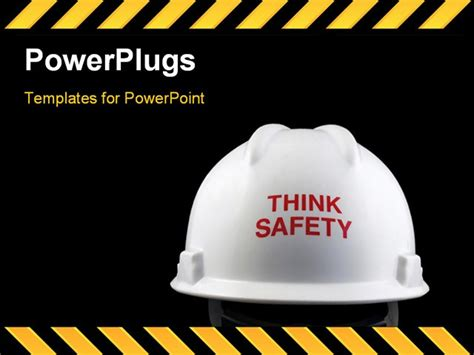 powerpoint template  safety message
