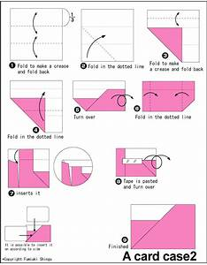 Origami Diagram For Origami Card Case2     Can Be Used As