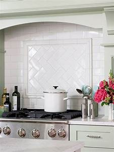 Subway tile herringbone pattern cottage kitchen bhg for Subway tile backsplash herringbone pattern