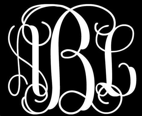 custom personalized monogram initials letters vinyl wall decal   initials framed initials