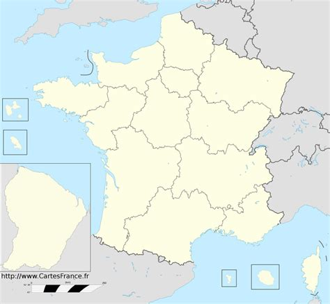 Carte du relief de la france en 3d. Carte Des Régions De France Sans Les Noms | My blog