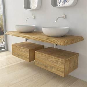 Salle De Bain Bois : wash basin shelf bathroom furniture solid wood ~ Dailycaller-alerts.com Idées de Décoration