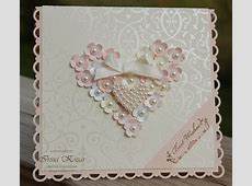 Stampin' with Irina Flower Heart Wedding Card