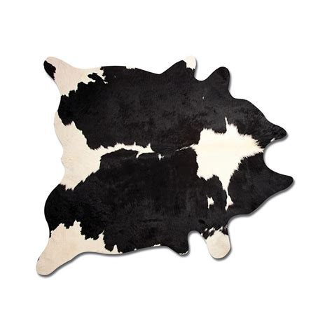 Black Cowhide Rug black and white 6 ft x 7 ft cowhide rug