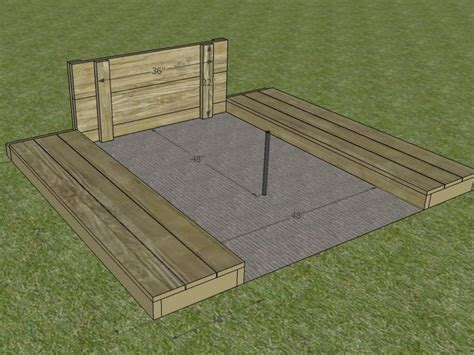 build  horseshoe pit  tos diy