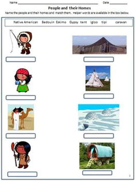 houses  clothing worksheets  grade