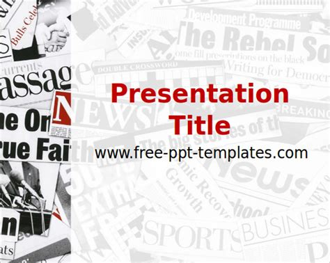 powerpoint newspaper templates  highest quality