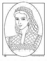 Coloring Pages Victorian Princess Queen Printable Queens Sheets Fantasy Printables Medieval Patterns Books sketch template