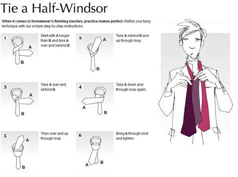 tie  double windsor knot diagram