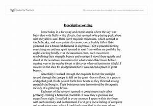 Descriptive Writing - Woodland - GCSE English - Marked by ...