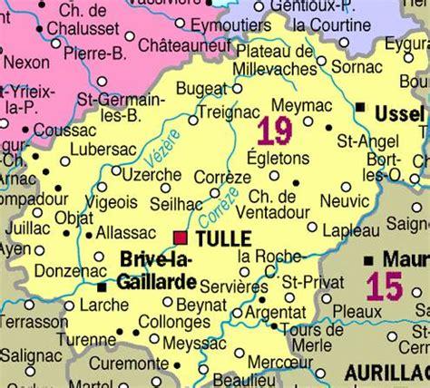 siege complet carte départementale de la corrèze et infos corrèze