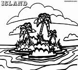 Island Coloring Pages Colorings Popular sketch template