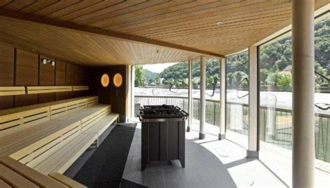 floating river sauna  germany takes oasis   level