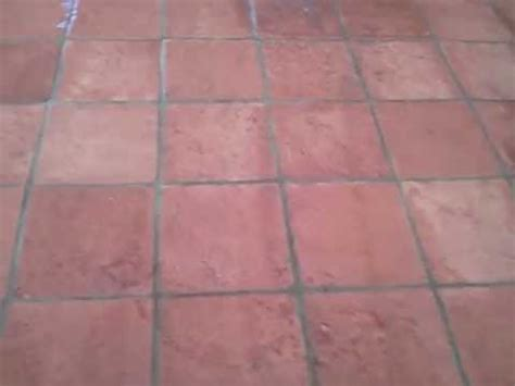 after cleaning and sealing this exterior saltillo tile