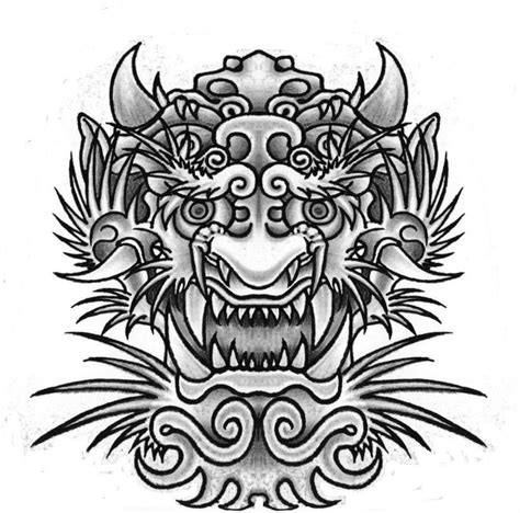 japanese dragon mask dragon japanese tattoo design  slabzzz tattoo designs pinterest