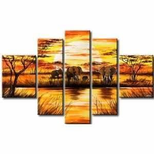 Leinwand 5 Teilig : handgemalt bild auf leinwand 5 teilig wald landschaften baum on popscreen ~ Whattoseeinmadrid.com Haus und Dekorationen