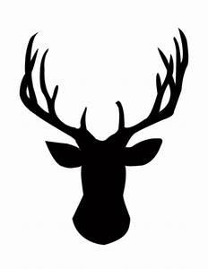 Free Printable Deer Head Silhouette | Search Results ...