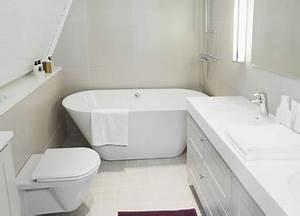 Fond De Baignoire : petite salle de bain amenagee avec baignoire ilot ~ Melissatoandfro.com Idées de Décoration