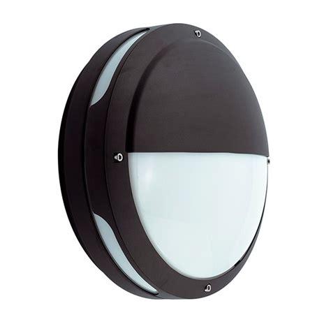 ansell tardo cfl black wall light with emergency battery