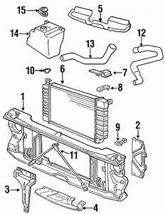 Gmc C1500 Radiator Insulator   Upper   7 4 Liter  Support  Motors  General  Cooling