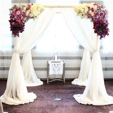Purple Pink And White Floral Wedding Ceremony Decor